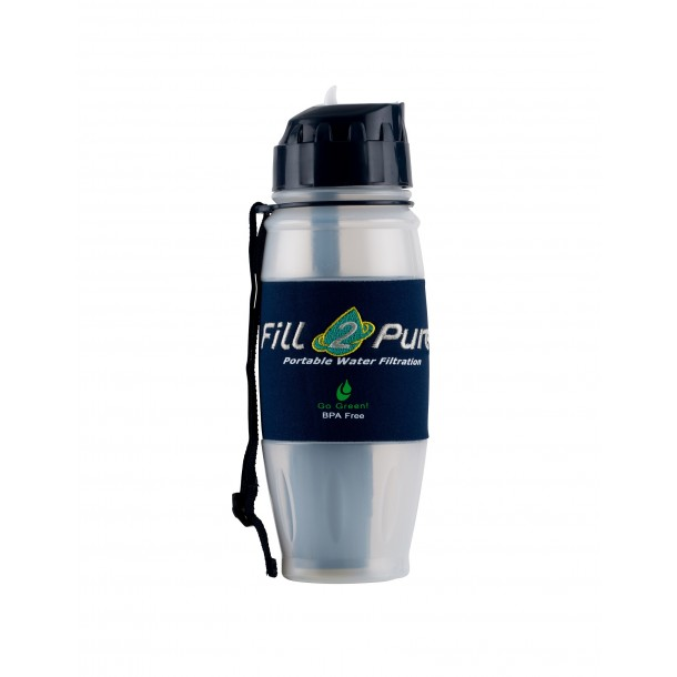 28 oz Travel Safe ADVANCED Filter Bottle - Removes 99.9999% of Bacteria & Virus